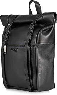 Berliner Bags Premium Rucksack Lille aus Leder Kurierrucksack für Damen und Herren Schwarz