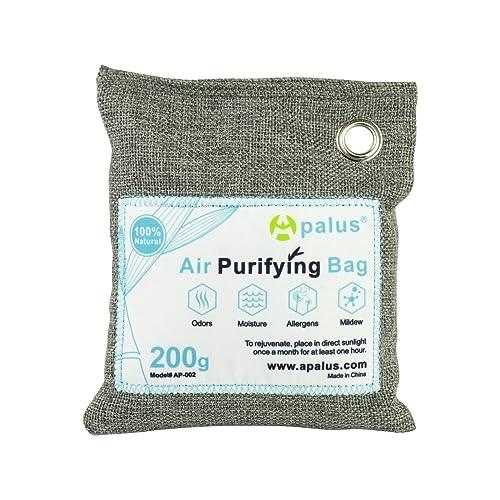 Apalus ® Bolsa de Carbón Activo De Bambú, Deshumidificador Y Purificador De Aire. Ambientador
