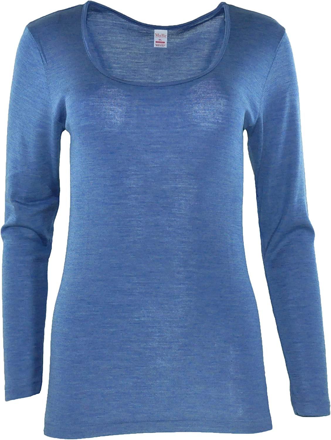 MaRe A surprise price is realized Luxury Merino Wool Blend Ranking TOP9 Proudly Long Made Sleeve T-Shirt.