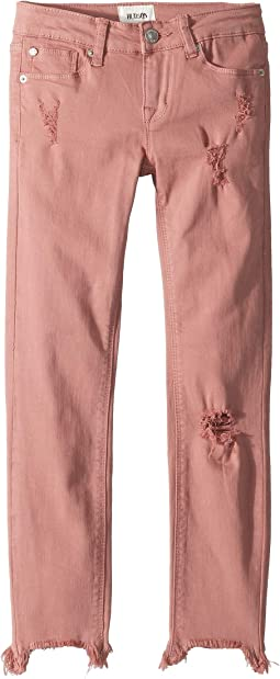 Chewed Hem Ankle Skinny in Mauve Glow (Big Kids)