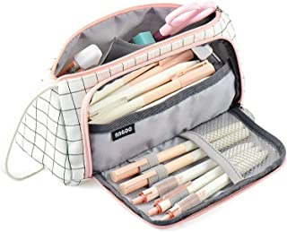 Pencil Case, Big Capacity Pencil Pen Case Bag Pouch Holder for Middle High School Office College Stationery with Zipper (P...