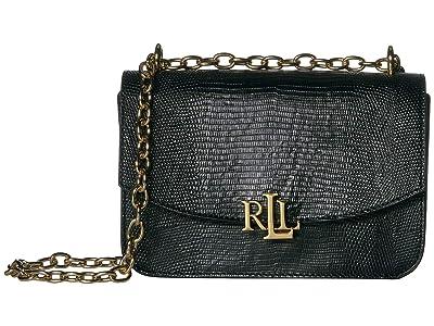 LAUREN Ralph Lauren Madison 22 Medium Crossbody (Black 1) Handbags