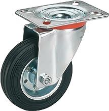 Dörner + helmer 711222 massief rubberen zwenkwiel met rollager 200 x 50 mm/plaat 140 x 110 mm
