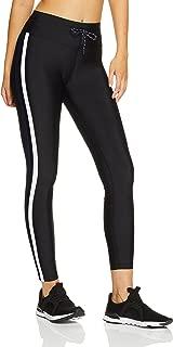 Lorna Jane Women's Yasmin Striped Full Length Tights, Black