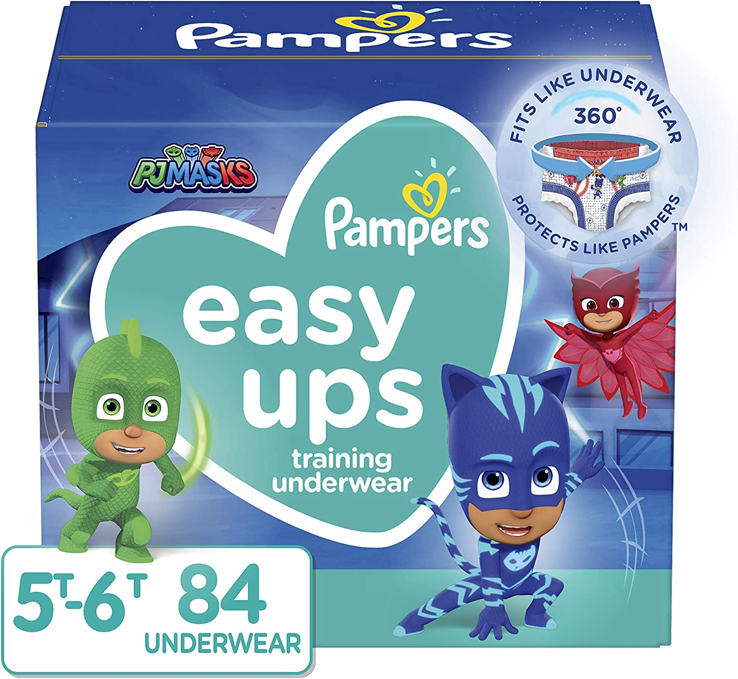 Pampers Easy Ups Training Pants Boys and Girls, 5T-6T (Size 7),