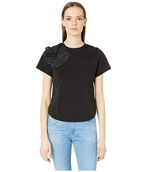 See by Chloe Embroidered Butterfly Crew Neck T-Shirt