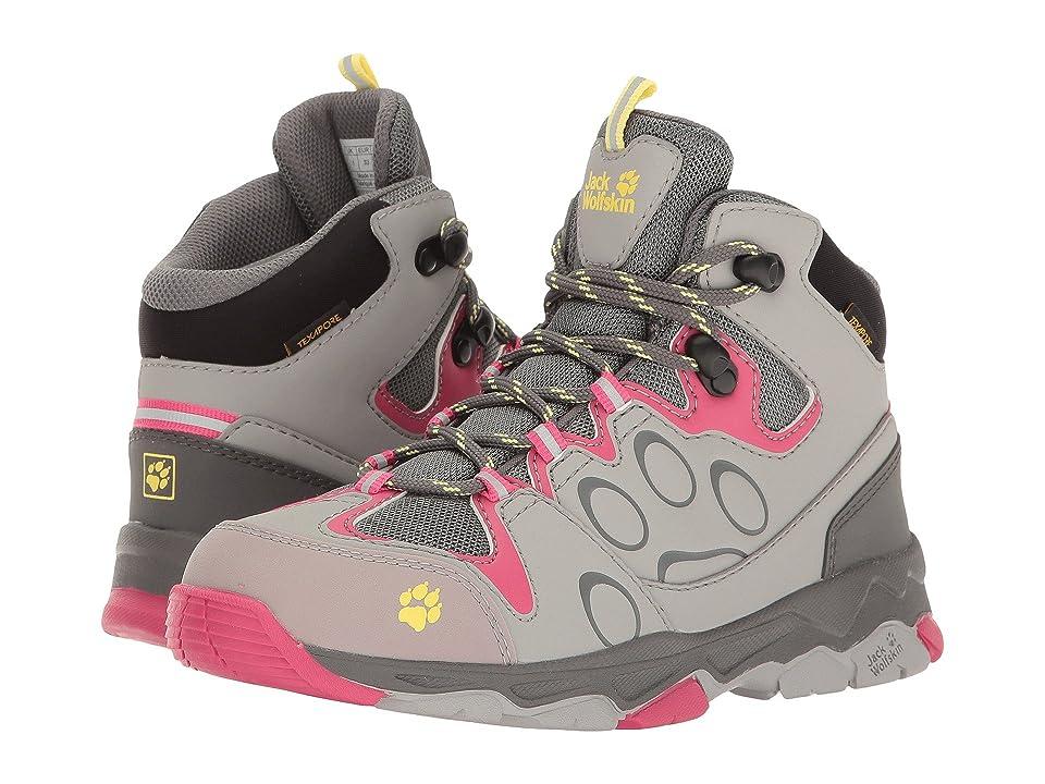 Jack Wolfskin Kids Mountain Attack 2 Texapore Mid (Toddler/Little Kid/Big Kid) (Tropic Pink) Girls Shoes