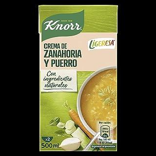 comprar comparacion Knorr Las Clásicas Crema Ligeresa Zanahoria y Puerro - Pack de 6 x 500 ml (Total: 3000 ml)