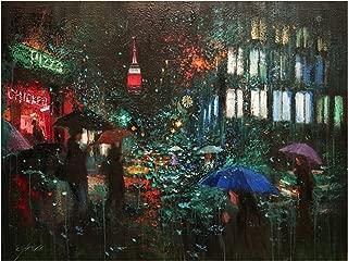 Trademark Fine Art Night Rain in NY by Chin H. Shin, 35x47, Multiple Colors
