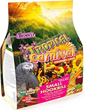 """F.M. Brown's Tropical Carnival Gourmet Bird Food for Parrots, African Greys, and Conures Under 13"""", 10-lb Bag - Probiotics..."""