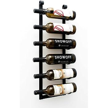 VintageView Tabletop Series-6 Bottle Tabletop Wine Rack Brushed Nickel Stylish Modern Wine Storage with Label Forward Design