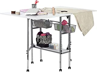 Sew Ready Studio Designs Folding Multipurpose Hobby and Craft Cutting Table with Drawers,..