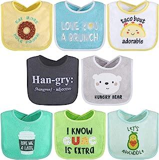 ست بی بی Peanutshell Terry برای نوزادان پسر یا دختر بچه ها ، ست 8 عددی Unisex برای تغذیه ، دندان درآوردن ، چرت زدن