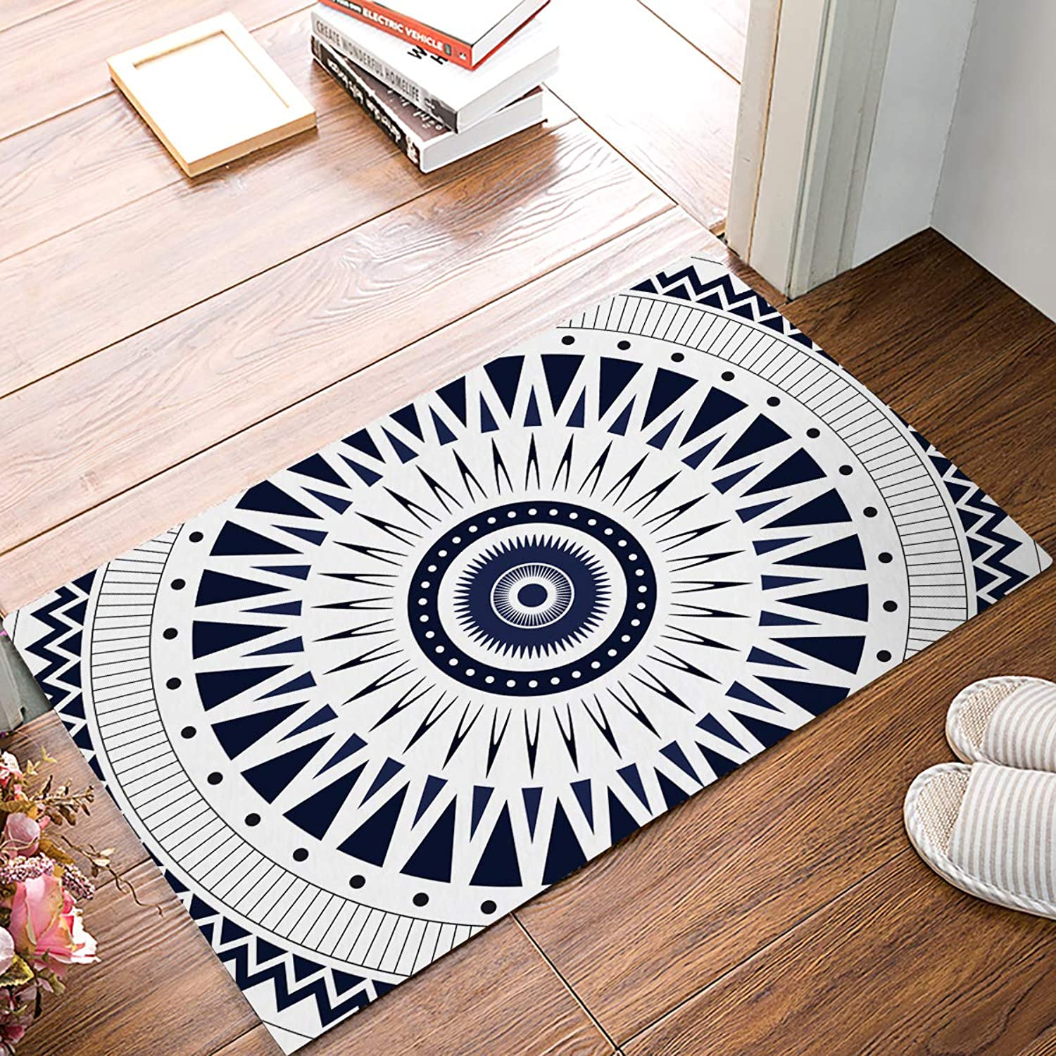 KAROLA Mandala Ethnic Pattern Doormat Entrance Mat Floor Mat Rug Indoor Bathroom Mats Home Decor Mat with Non Slip Backing 20  x 32
