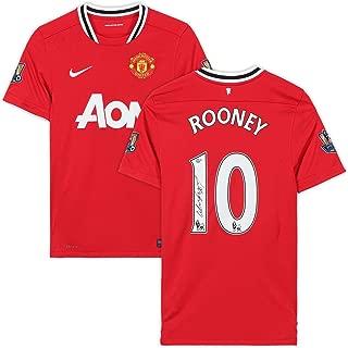 Wayne Rooney Manchester United Autographed 2011-12 Jersey - JSA Certified - Autographed Soccer Jerseys