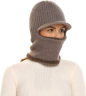 Unisex Neck Warmer Ski Face Mask Winter Hat Visor Balaclava Beanie
