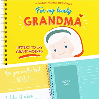 Letters To My Grandma & 16 reasons Why I Love You Grandma, Paste Photos & Write Beautiful Things to GrandMa. It's a Personalized Gift. Unique & Special Present for Grandmother.