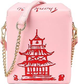 حقيبة كتف كروسبودي بطباعة برج كيمينج، حقيبة يد من البولي يوريثان الصيني
