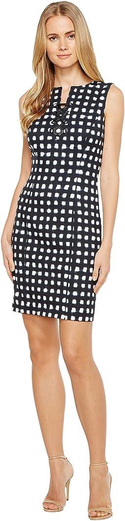 Lace-Up Sheath Dress