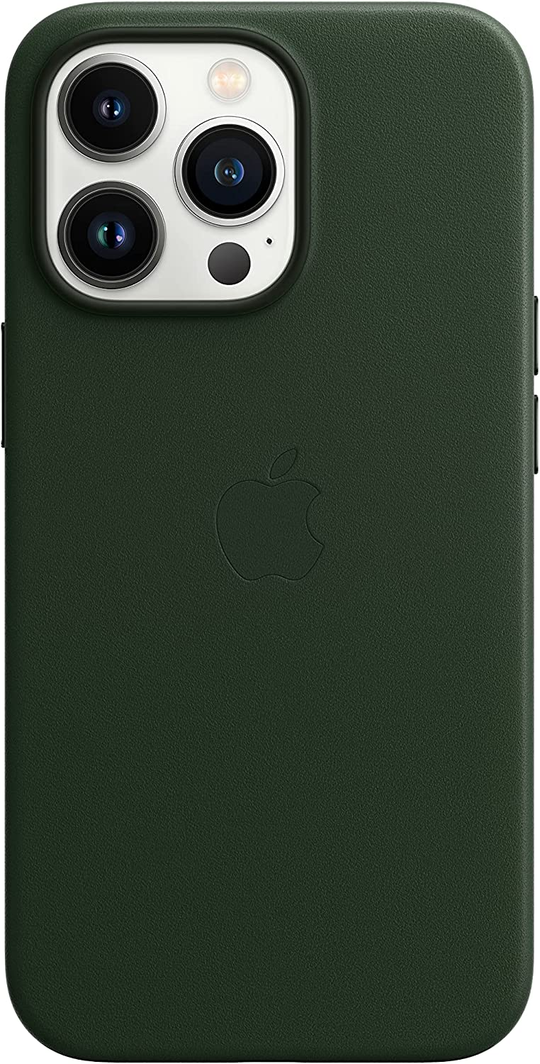Apple Leather Case with MagSafe (for iPhone 13 Pro) - Sequoia Green