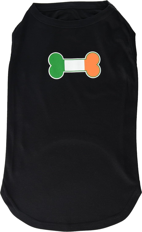 Dog   Cat   Pet Charms Bone Flag Ireland Screen Print Shirt Black XXXL (20)