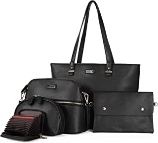Women Fashion Tote Handbags Wallet Shoulder Bag Top Handle Satchel Purse Sets
