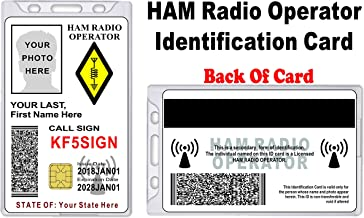 HAM Radio ID Card - Custom with Your Photo and Information - HAM Radio Identification
