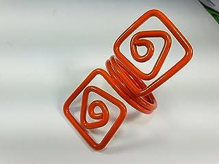 Ronds de serviette,orange.Modele Puck