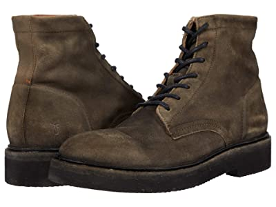 Frye Bowery LT Lace-Up (Faded Black Distressed Oiled Suede) Men