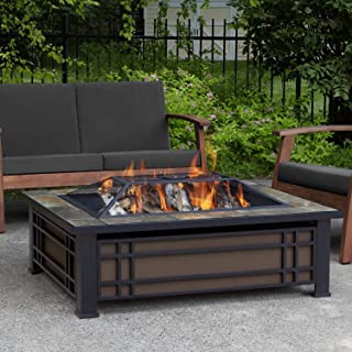 Real Flame 946-NST 946 Hamilton Fire Pit, Black