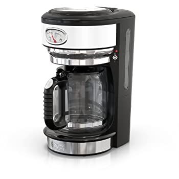 Remington Russell Hobbs CM3100WTR Retro Style 8-Cup Coffeemaker, White