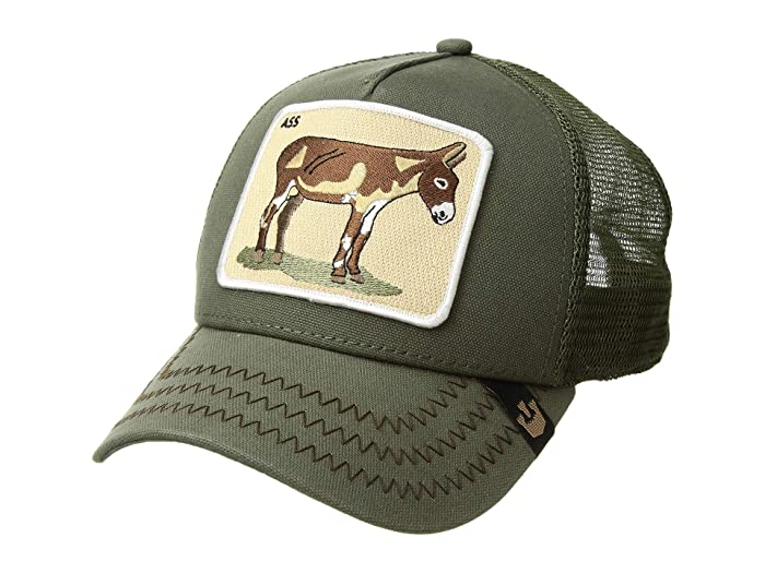 Goorin Brothers  Animal Farm Snap Back Trucker Hat (Olive Donkey) Caps