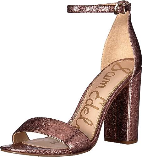 Sam Edelman Wohommes Yaro Heeled Sandal, Cameo rose rose rose Metallic Leather, 9.5 M US 497