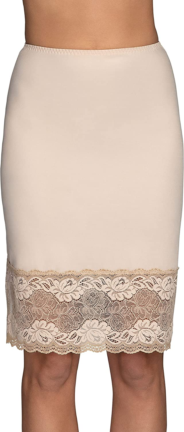 Vanity Fair Women's Lace Half Slip with with Single Side Slit