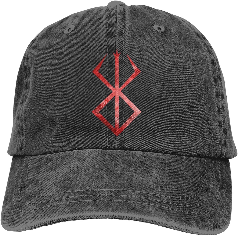 RUIHGK Berserk Anime Symbol Denim Cap Adjustable Casquettes Baseball Cowboy Hat