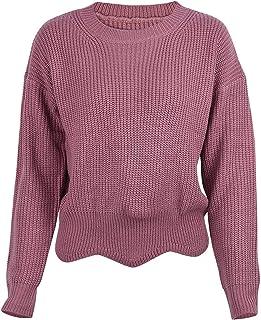 Mujer Sweater Elegante Cómodo Suéter De Punto Otoño Invierno Color Sólido Cuello Redondo Modernas Casual Manga Larga Elást...
