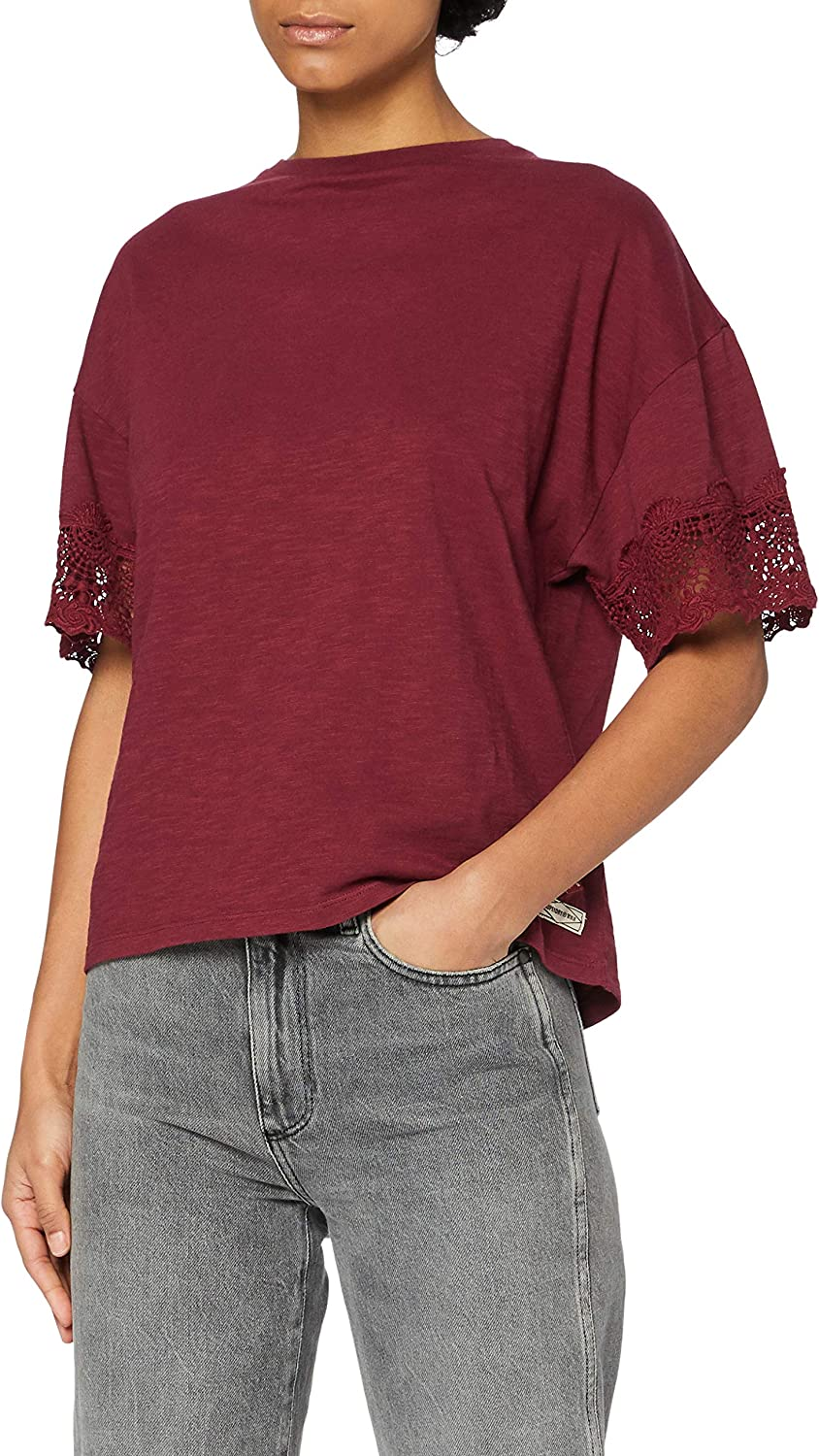 Superdry Crafted Folk Fashionable Lace T-Shirt Virginia Beach Mall