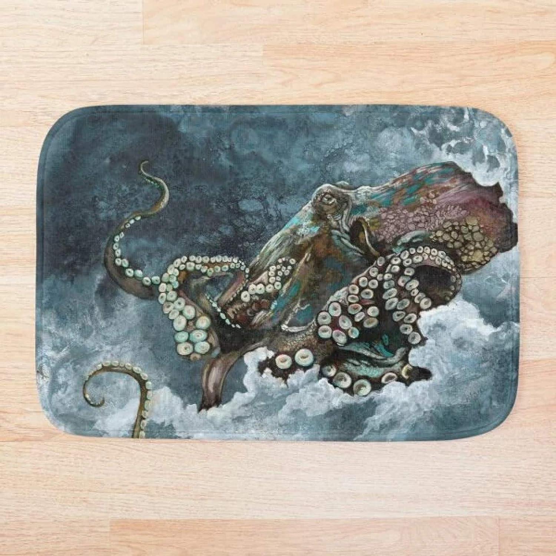RQJOPE Bath mat Doormat Octopus M Pattern 3D Ranking TOP16 Print Import Mat