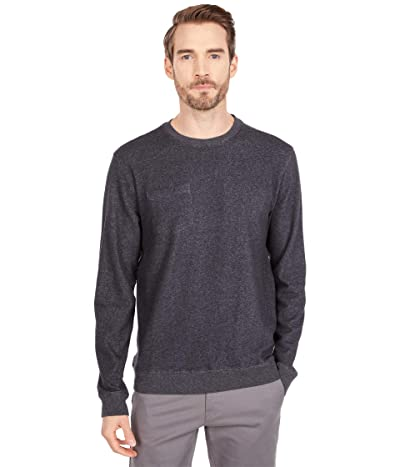 Linksoul Pocket Crew Neck Sweatshirt (Black Heather) Men