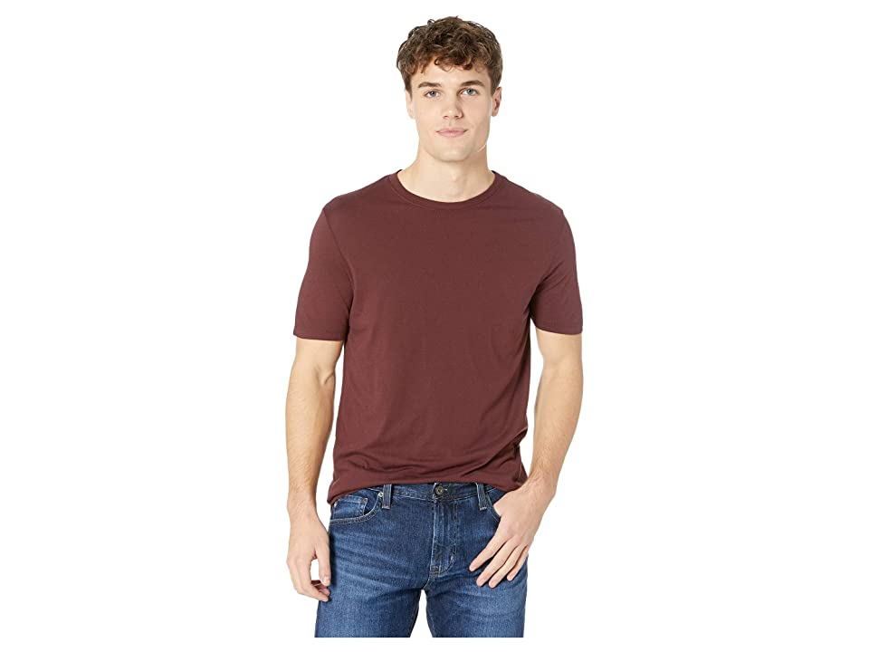 Image of AG Adriano Goldschmied Bryce Crew Short Sleeve Tee (Rich Carmine) Men's T Shirt