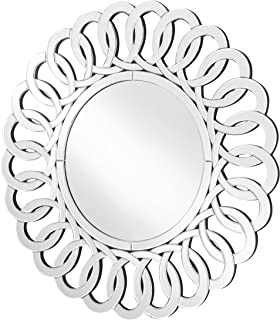 Decor Central Contemporary Round Mirror with MDF Frame, 31.5