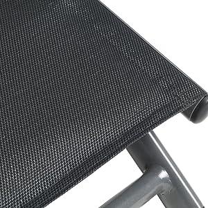 greemotion Sdraio da Giardino, Sedia a Sdraio Pieghevole Grenada con testiera Imbottita, Alluminio, Antracite, 188x 65x 56cm, 126485