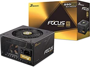 Seasonic FOCUS 550 Gold SSR-550FM 550W 80+ Gold ATX12V & EPS12V Semi-Modular 7 Year Warranty Compact 140 mm Size Power Supply