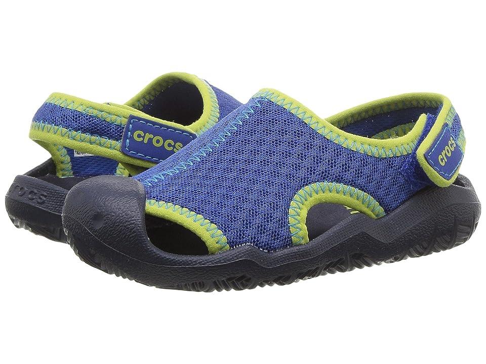 Crocs Kids Swiftwater Sandal (Toddler/Little Kid) (Blue Jean/Navy) Kids Shoes