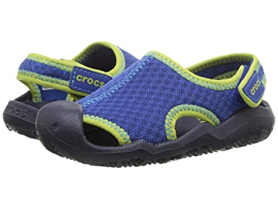 Crocs Kids Swiftwater Sandal (Toddler/Little Kid) (Blue Jean/Navy) Kids Shoes