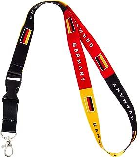 Country of Germany Flag Lanyard for Keys Keychain Souvenir German (Lanyard)