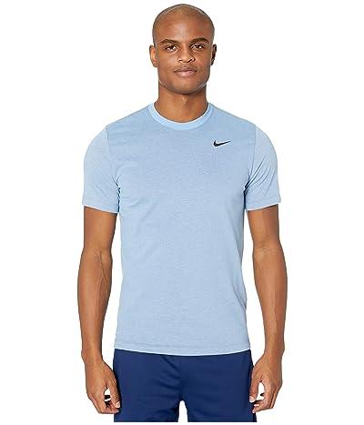 Nike Dry Tee Dri-FITtm Cotton Crew Solid (Light Blue/Night Maroon/Black) Men