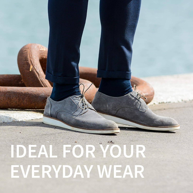 Premium Grey Classic Black DANISH ENDURANCE Merino Wool Dress Socks for Men /& Women 3-Pack Breathable Blue Made in EU