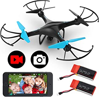 Force1 U45WF Drones with Camera for Adults and Kids - Remote Control FPV Drone w/ 720p HD Camera, VR Capable with WiFi App