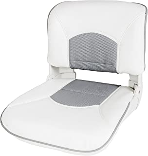 Tempress Profile Guide Boat Seat with White/Gray Welded Cushion